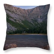 Evening At Chimney Pond  Throw Pillow
