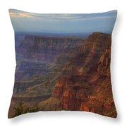 Evening At Desert View Throw Pillow