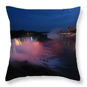 Evening At Niagara Throw Pillow