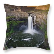 Evening At Palouse Falls Throw Pillow