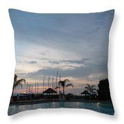 Evening At The Pool Throw Pillow