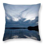 Evening Clouds Over Haukkajarvi Throw Pillow