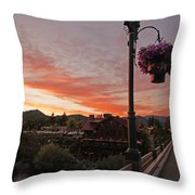 Evening Color Over Taprock Throw Pillow