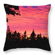 Evening In Paradise Painterly Style Throw Pillow