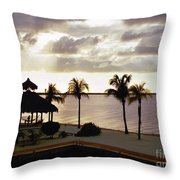 Evening In The Keys - Key Largo Throw Pillow