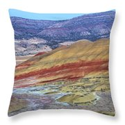 Evening In The Painted Hills Throw Pillow