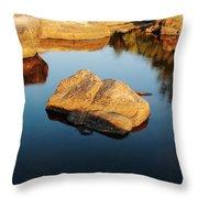 Evening Light And Rock Tiemann Shut Ins Throw Pillow