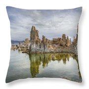 Evening Light At Mono Lake Throw Pillow