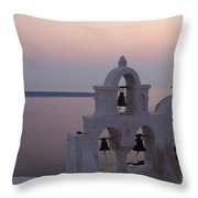 Santorini Greece Evening Light  Throw Pillow