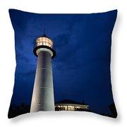 Evening Lighthouse Throw Pillow