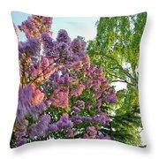 Evening Lilac Throw Pillow