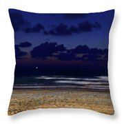 Evening On The Beach Throw Pillow
