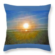 Evening Orb Throw Pillow