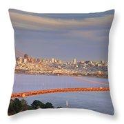 Evening Over San Francisco Throw Pillow