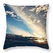 Evening Rays Throw Pillow