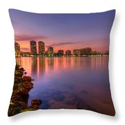 Evening Warmth Throw Pillow