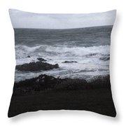 Evening Waves Throw Pillow