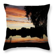 Evenings On The Water  Throw Pillow