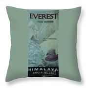 Everest Tea House Throw Pillow
