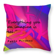 Everything You Imagine Throw Pillow
