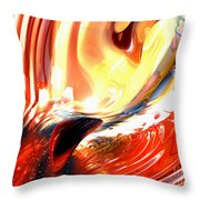 Evil Intent Abstract Throw Pillow