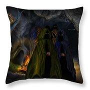 Evil Speaking Throw Pillow by Alessandro Della Pietra