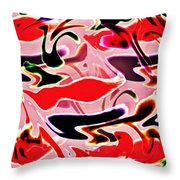 Evolve Abstract Painting Throw Pillow