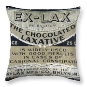 Ex-lax Container Throw Pillow