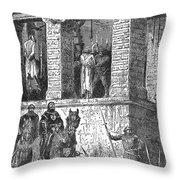 Execution Of Heretics Throw Pillow
