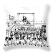 Execution Of John Brown, American Throw Pillow