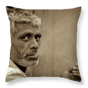 Exhaling In Lucknow Throw Pillow