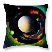 Exit Throw Pillow by Drazen Pavlovic