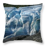 Exit Glacier Viewpoint Throw Pillow