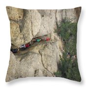 Exiting Cliff Palace Throw Pillow