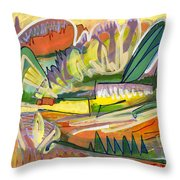 Exotic Places In My Mind Throw Pillow