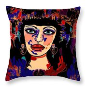 Exotic Woman Throw Pillow