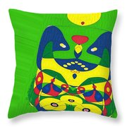Expecting Twins Throw Pillow