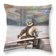 Experienced Craftsman Throw Pillow