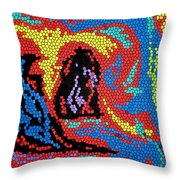 Exploding Duck Throw Pillow