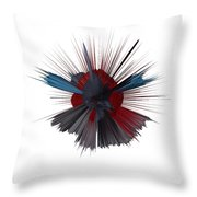 Exploding Tick Throw Pillow