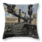 Explosive Ordnance Disposal Robot Used Throw Pillow