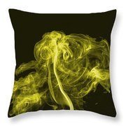 Explosive Yellow Throw Pillow