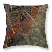 Expressions In Red Throw Pillow
