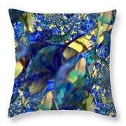 Exquisitely Blue Throw Pillow