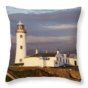 Exterior Of Fanad Lighthouse Fanad Throw Pillow