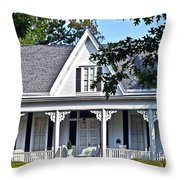 Exterior Of Victorian Style House Throw Pillow