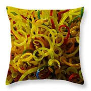 Extraordinary Chihuly Glass  Throw Pillow
