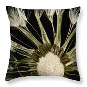 Extreme Close-up Of The Seedhead Throw Pillow