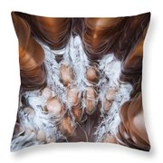 Extreme Close-up Showing The Detail Throw Pillow