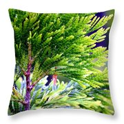 Extreme Shades Of Green Throw Pillow
